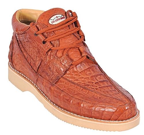 Los Altos Cognac Crocodile Casual Ankle Boot ZA060103