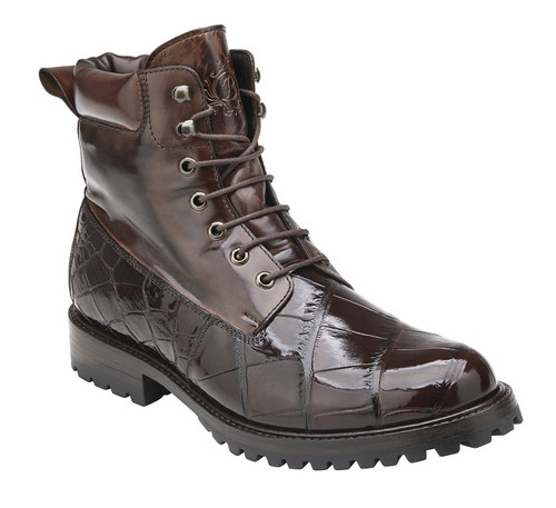 Belvedere Chocolate Brown Alligator 6 Inch Boot Logan