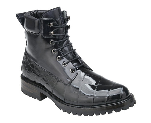 Belvedere Black Alligator 6 Inch Boot Logan