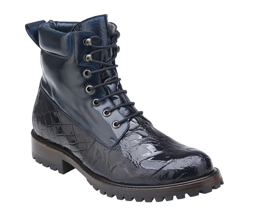 c47d44ac16d Belvedere Blue Alligator 6 Inch Boot Logan