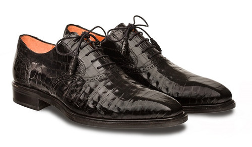 Mezlan Lupo Black Crocodile
