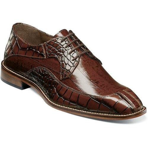 Stacy Adams Cognac Alligator Leather Split Toe Shoes 25318-221