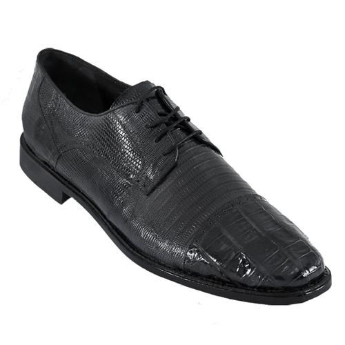 Los Altos Black Lizard Crocodile Cap Toe Shoes ZV093705