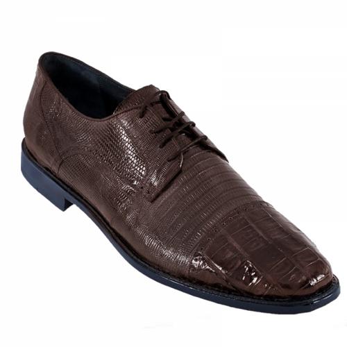 Los Altos Brown Lizard Crocodile Cap Toe Shoes ZV093707