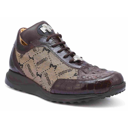 Mauri Sneakers Ostrich & Hornback Brown 8741-2