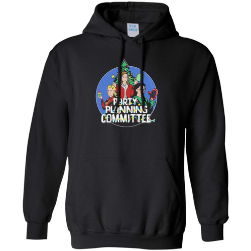 22nd Century Party Planning Committee The Office Christmas Baseball Long Sleeve T-Shirt (Hoodie; Black; XX-Large)