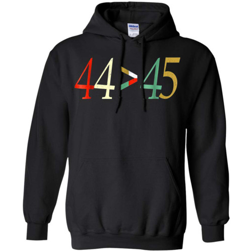 44 vs 45, The 44th President is Greater Than The 45th - Shirt (Black,XL)