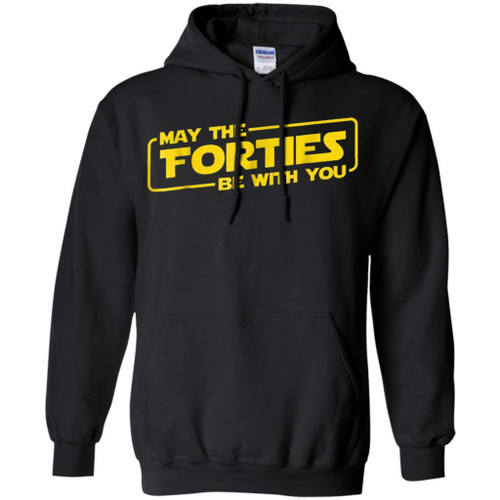 40th Birthday Gifts May The Forties Be with You Shirt 1978 (Black,4XL)
