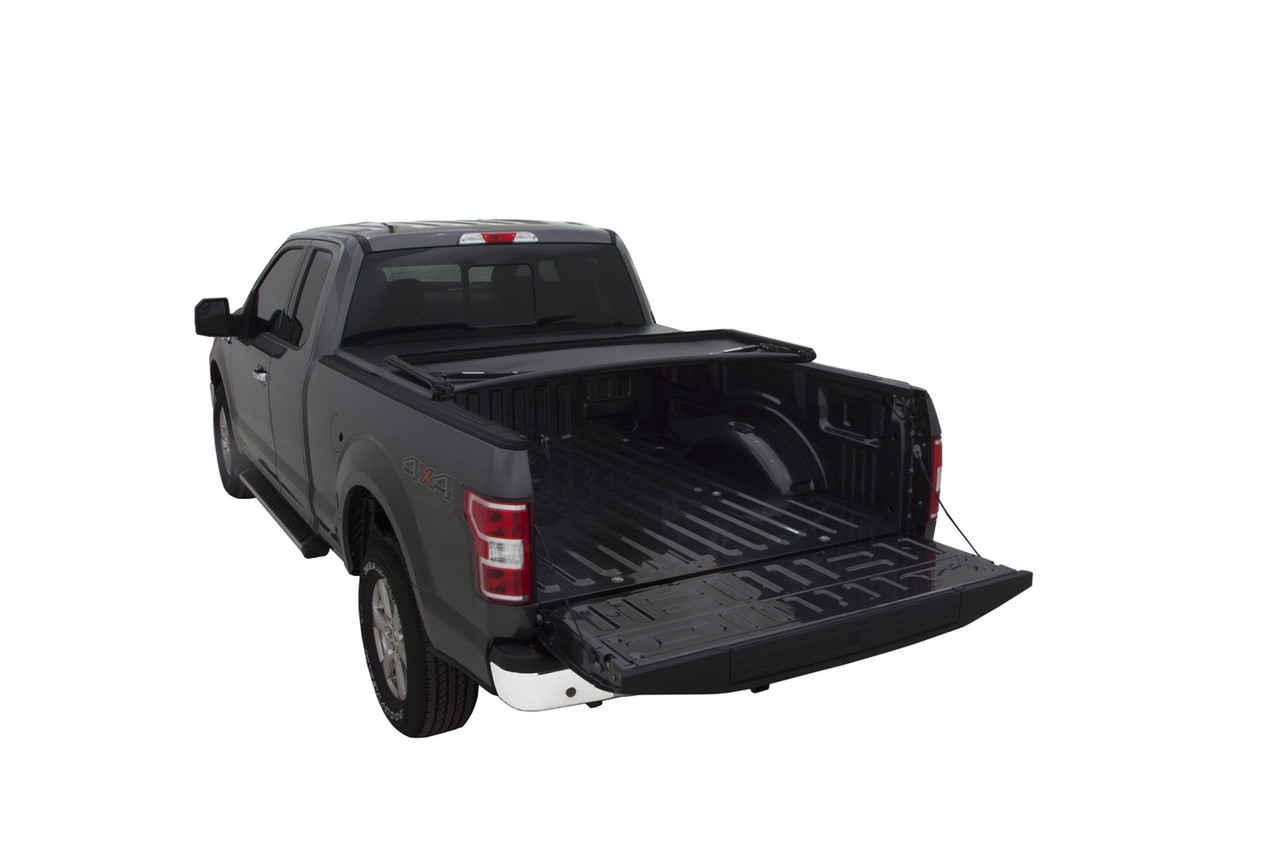 Lund 15 18 Ford F 150 5 5ft Bed Genesis Tri Fold Tonneau Cover Black 950172 Complete Street Performance