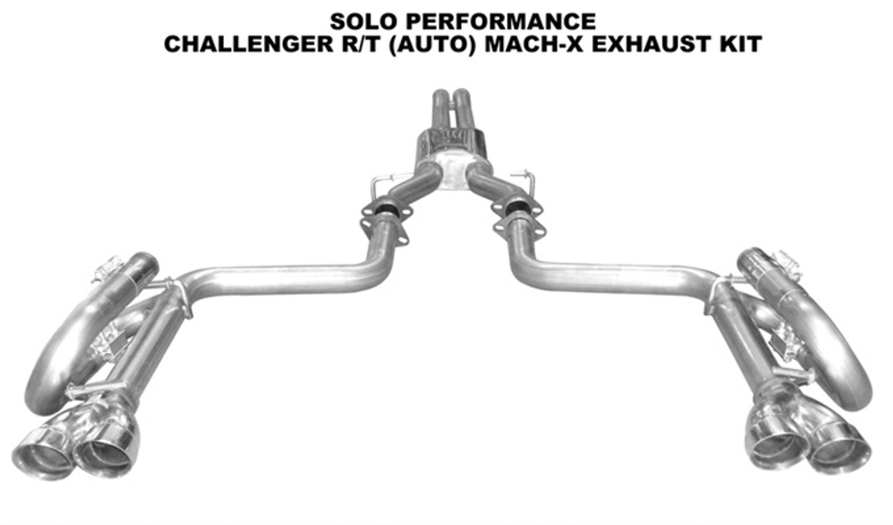 Solo Performance Mach-X Cat-Back Exhaust (Square Tips) - 2008-2014 Dodge  Challenger RT Auto (5 7L)