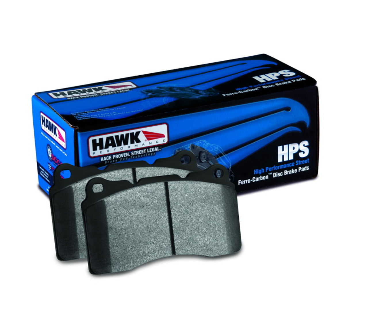 Hawk HPS Brake Pads Front And Rear For Ford Mustang