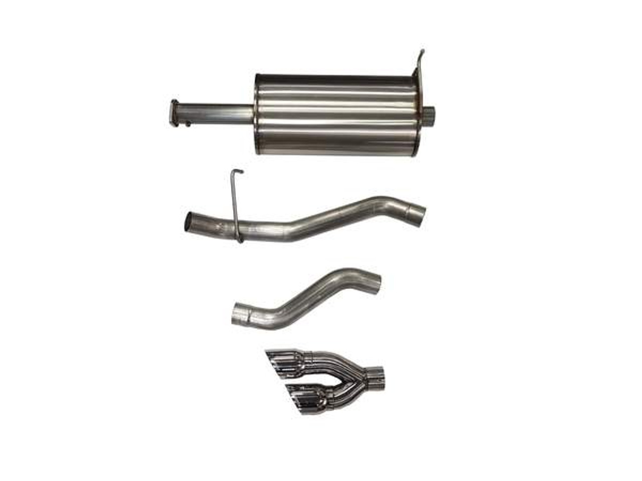 Dual Rear Exit with Black Twin Pro Series Tips 1 Pack Corsa 14968BLK Cat Back Exhaust