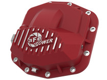 aFe Power Pro Series Front Differential Cover Red w/Machined Fins 18-19 Jeep JL (Dana M210) - 46-71030R