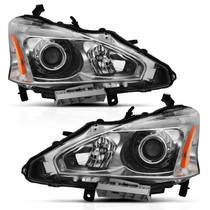 Anzo 121550 - 2013-2015 Nissan Altima Projector Headlight Chrome Amber