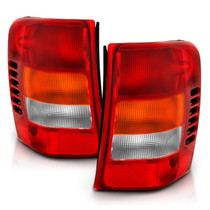 Anzo 311308 - 1999-2004 Jeep Grand Cherokee Taillight Red/Clear Lens (OE Replacement)