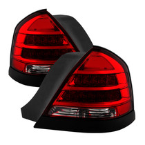 Spyder 9032868 - Xtune 98-11 Ford Crown Victoria LED Tail Lights -Red Clear ALT-JH-CVIC98-LED-PI-RC