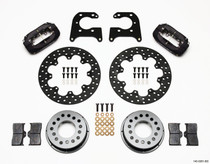 Wilwood 140-0261-BD - Forged Dynalite Rear Drag Kit Drilled Rotor Big Ford 2.36in Offset