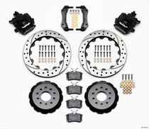 Wilwood 140-10158-D - Combination Parking Brake Rear Kit 12.88in Drilled Mustang 94-04