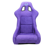 NRG FRP-302PP-PRISMA - FRP Bucket Seat PRISMA Edition W/ pearlized Back Purple Alcantara - Large