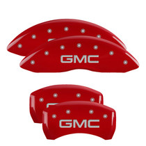 MGP 34218SGMCRD - Set of 4: Red finish, Silver GMC