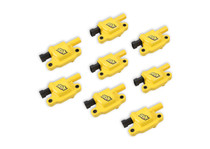 ACCEL Ignition Coils - SuperCoil GM LS2/LS3/LS7 engines, yellow, 8-pack. - 140043-8