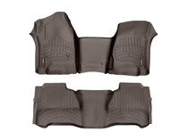 Weathertech 47480-1-9 - 2018+ Land Rover Range Rover (No 2nd Row Console) Front & Rear FloorLiner - Cocoa