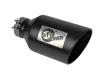 aFe Power 49T40801-B15 - MACH Force-Xp 409 Stainless Steel Clamp-on Exhaust Tip Black