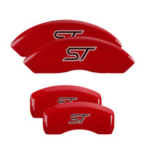 MGP 10252SST1RD - Set of 4: Red finish, Silver ST (No Bolts)