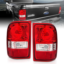 Anzo 211182 - 2001-2011 Ford Ranger Taillights w/ Red/Clear Lens (OE Replacement) Pair