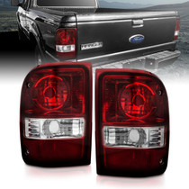 Anzo 211183 - 2001-2011 Ford Ranger Taillights w/ Dark Red/Clear Lens (OE Replacement) Pair