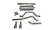 """Corsa 3"""" Dual Rear Exit Exhaust System with Polished Tips - Sport Sound Level - 2014-2018 Chevy Silverado & GMC Sierra (5.3L V8) - 14869"""