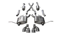 Corsa Catback Exhaust - 2014-2018 Jeep Grand Cherokee - Polished Tips (5.7L Hemi Summit Model Only!) - 14992