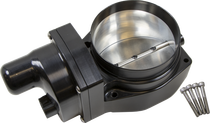 Nick Williams 102mm Billet Throttle Body (Black Finish)- Drive By Wire LSX BOOSTED Applications (LS2, LS3, LS7) - NWTB102MMELB-BOOST