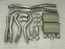 StainlessWorks Catback Exhaust (Connects to SW Headers) - 2010-2015 Chevy  Camaro SS (6.2L V8) - CA10CBL