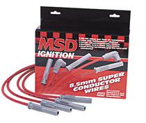 MSD Super Conductor Spark Plug Wires (Black) - GM LSx Applications (Set of 8) - 32813