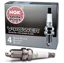 NGK V-Power TR-6 Spark Plugs (Set of 8) - GM LSx V8 (One Step Colder for Forced Induction/Nitrous) - NGK-4177-8