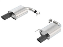 Borla S-type Axleback Exhaust (Aggressive) with Black Chrome Tips- 2015+ Ford Mustang GT (5.0L) - 11887BC