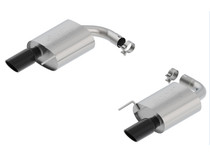 Borla ATAK Axleback Exhaust (Very Aggressive) with Black Chrome Tips- 2015+ Ford Mustang GT (5.0L) - 11895BC
