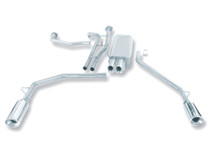 Borla Catback Exhaust w/Polished Tips - 2004-2015 Nissan Titan CC/EC/SB (5.6L V8) - 140079