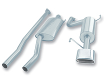 Borla Catback Exhaust w/Polished Tips - 2006-2014 Honda Ridgeline (3.5L V6) - 140195