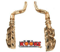 Kooks Custom Headers 3100H420 - Kooks 09-16 Dodge Charger 5.7L 1-7/8in x 3in SS Long Tube Headers + 3in x 2-1/2in Catted SS Pipe