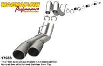 """Magnaflow Performance 4"""" Dual 'PRO SERIES' Exhaust System - 2008-2010, Ford F-250/350 Super Duty, 6.4L (CC-SB/LB and EC-LB) - 17988"""