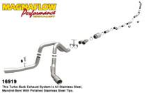 """Magnaflow Performance 4"""" Dual (Turbo Back) Exhaust Sytem - 2005-2007, Ford F-250/350 Super Duty, 6.0L (CC-SB/LB and EC-LB) - 16919"""