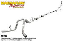 """Magnaflow Performance 4"""" Dual 'XL' (Turbo Back) Exhaust System - 2005-2007, Ford F-250/350 Super Duty, 6.0L (CC-SB/LB and EC-LB) - 16923"""