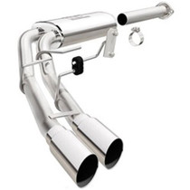 """MagnaFlow Catback Exhaust System-  3"""" Mid Exit With Dual 3.5"""" Tips Stainless Steel SuperCab/SuperCrew 2.7L/3.5L/5.0L F-150 2015-2018 - 19054"""