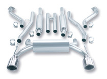 Borla Catback Exhaust w/Polished Tips - 2003-2008 Nissan 350Z (3.5L V6) - 140045