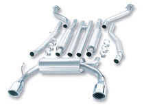 Borla Catback Exhaust w/Polished Tips - 2003-2007 Infiniti G35 Coupe (3.5L V6) - 140057