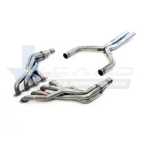 """Texas Speed 1 7/8"""" Long Tube Headers with 3"""" Catted X-pipe - 2016+ Chevy Camaro SS & 1LE - TSPG6304HX-CAT-178"""