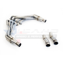 "Texas Speed 1 7/8"" Long Tube Headers with 3"" Catted Connection Pipes- 2016+ Chevy Camaro SS & 1LE - TSPG6304HCAT-178"