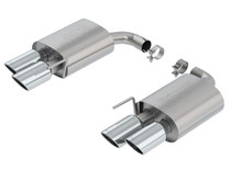 Borla S-type Axleback Exhaust (Without Active Exhaust Valves) & Polished Tips- 2018+ Ford Mustang GT (5.0L V8) - 11953